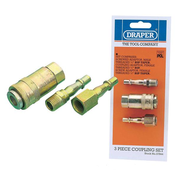 Draper 37844 Ack2 Air Line Coupling Set 14 BSP Thumbnail 1