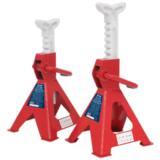 Sealey VS2002 Axle Stands 2tonne Capacity per Stand 4tonne per Pair Ratchet Type