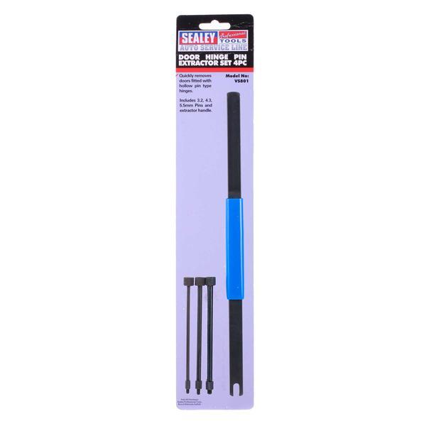 Sealey VS801 Door Pin Extractor Tool Set 4 Piece Thumbnail 3