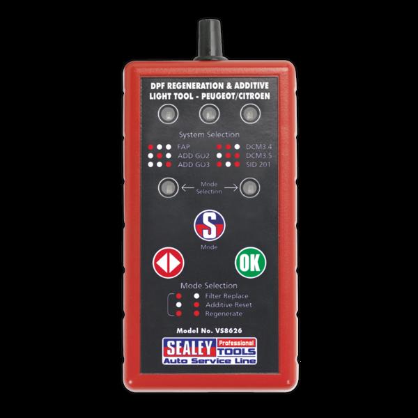 Sealey VS8626 DPF Regeneration & Additive Light Tool - Citroen, Peugeot  Thumbnail 1