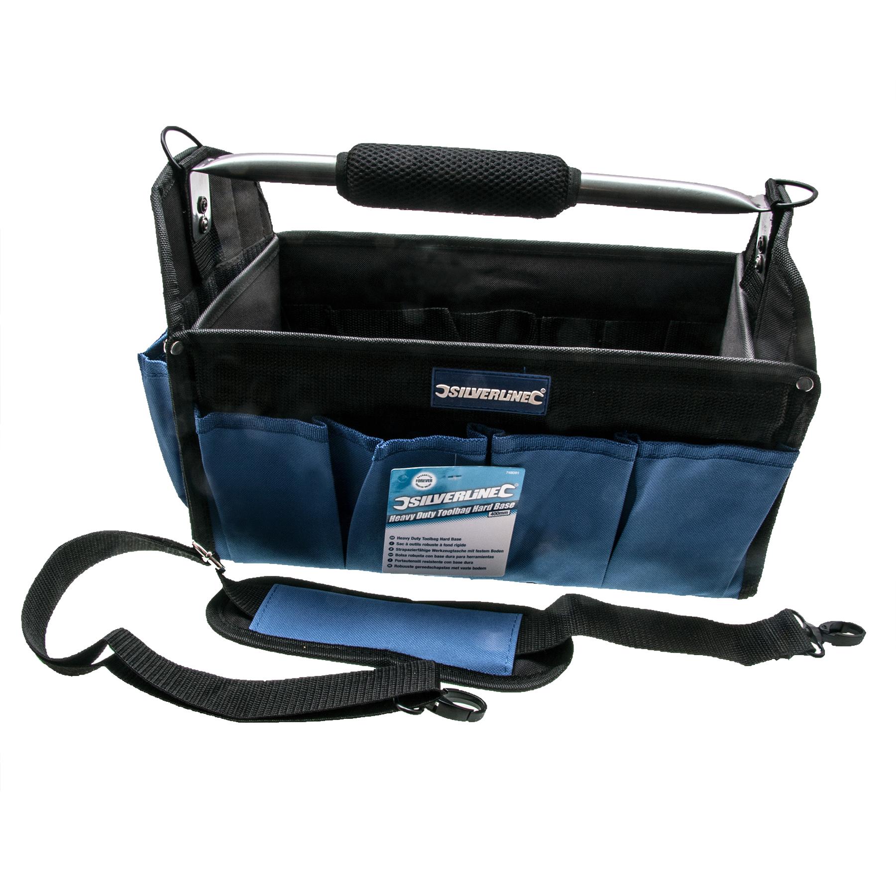 Silverline 748091 Heavy Duty Tool Bag Hard Base