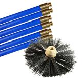 Bailey Chimney Cleaning Set With Brush And 6 Rods