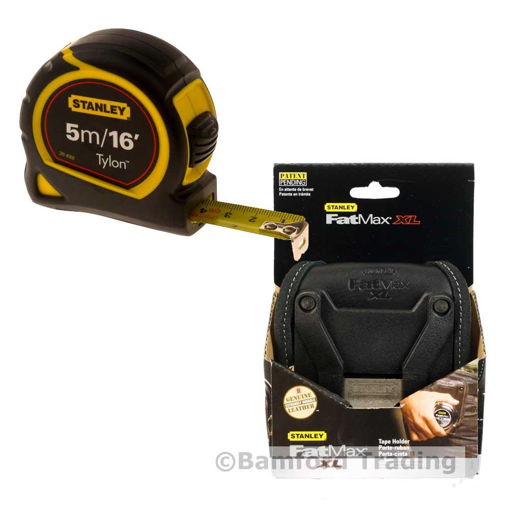 FatMax XL Leather Belt Holder & 5m Stanley Tylon Tape Measure