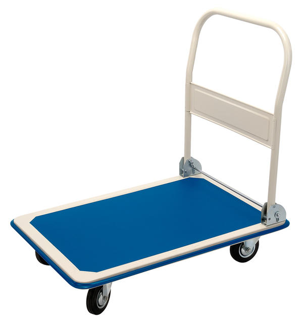 Draper 4692 300kg Platform Trolley with Folding Handle - 900 X 600 X 850mm Thumbnail 1