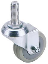 Draper 65475 60275B 75mm Swivel Bolt Fixing Rubber Castor S.W.L 70Kg