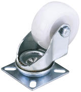 Draper 65492 60450P 50mm Dia. Swivel Plate Fixing Nylon Wheel - S.W.L. 50Kg