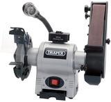 Draper 5096 150mm 370W 230V Bench Grinder with Sanding Belt and Worklight