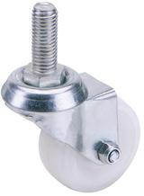 Draper 65500 60475B 75mm Dia. Swivel Bolt Fixing Nylon Wheel - S.W.L. 70Kg