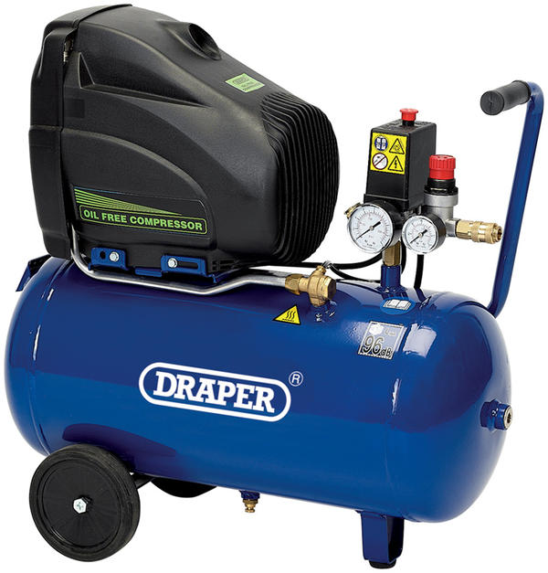 Draper 5635 24L 110V 1.1kW Oil-Free Air Compressor Thumbnail 1