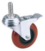 Draper 65516 60575BB 75mm Dia. Swivel Bolt Fixing Polyurethane Wheel with Brake - S.W.L. 70Kg (T)
