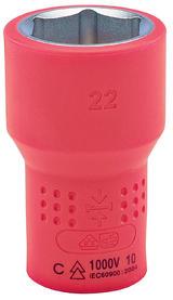 "Draper 7240 Expert 22mm 1/2"" Sq. Dr. VDE Approved Fully Insulated Expert Hi-Torq Metric VDE Socket"