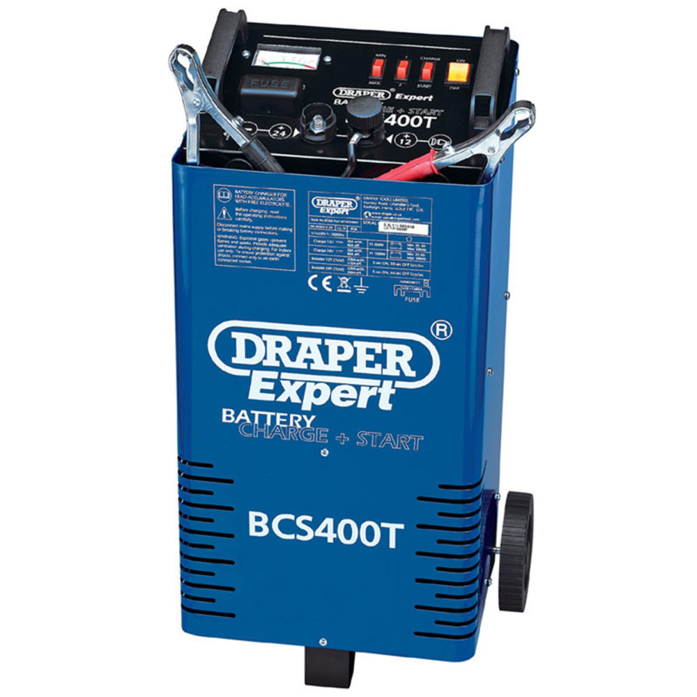Draper 07263 BCS400T Expert 12/24V 400A Battery Starter/Charger