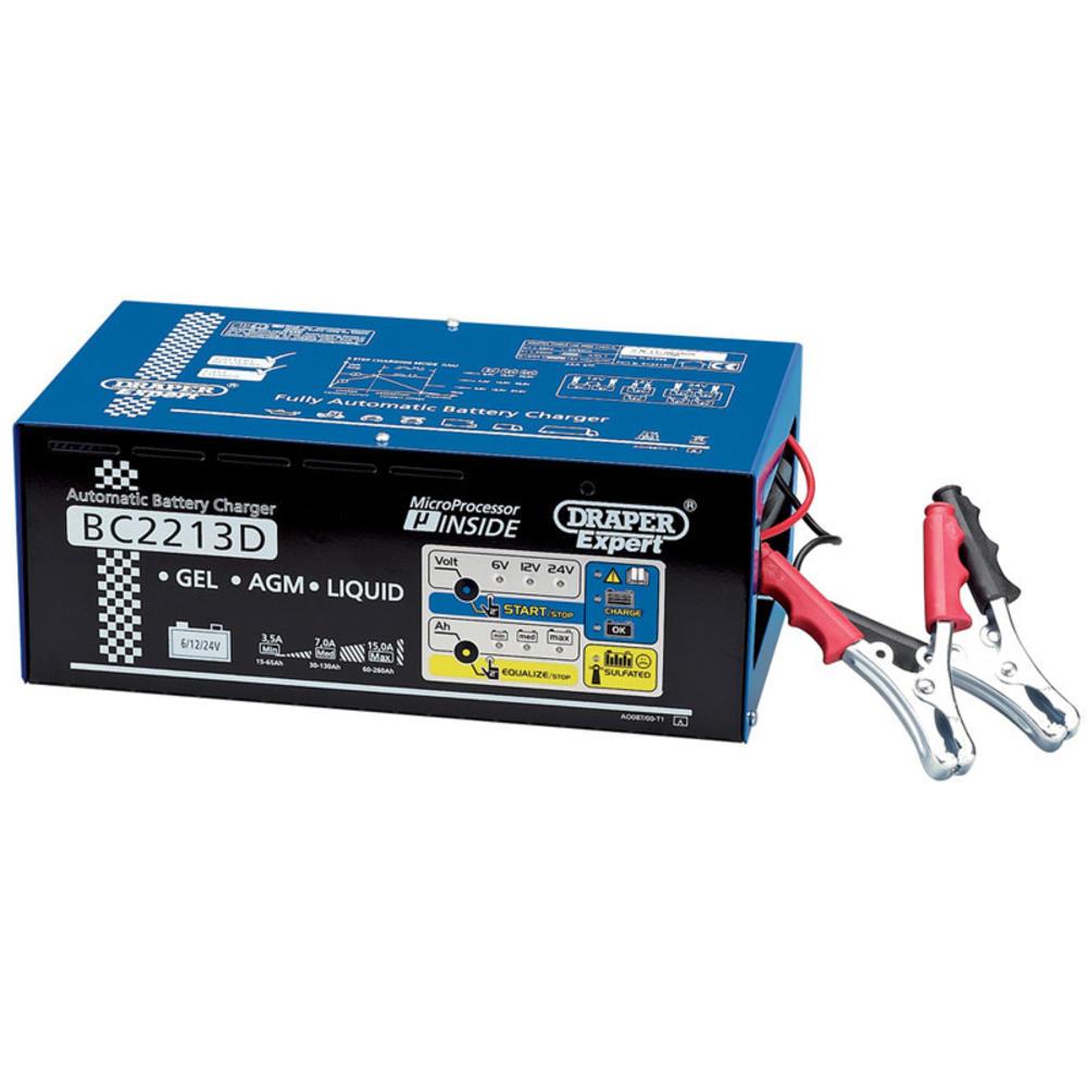 Draper 07266 BC2213D Expert 6/12/24V Battery Charger