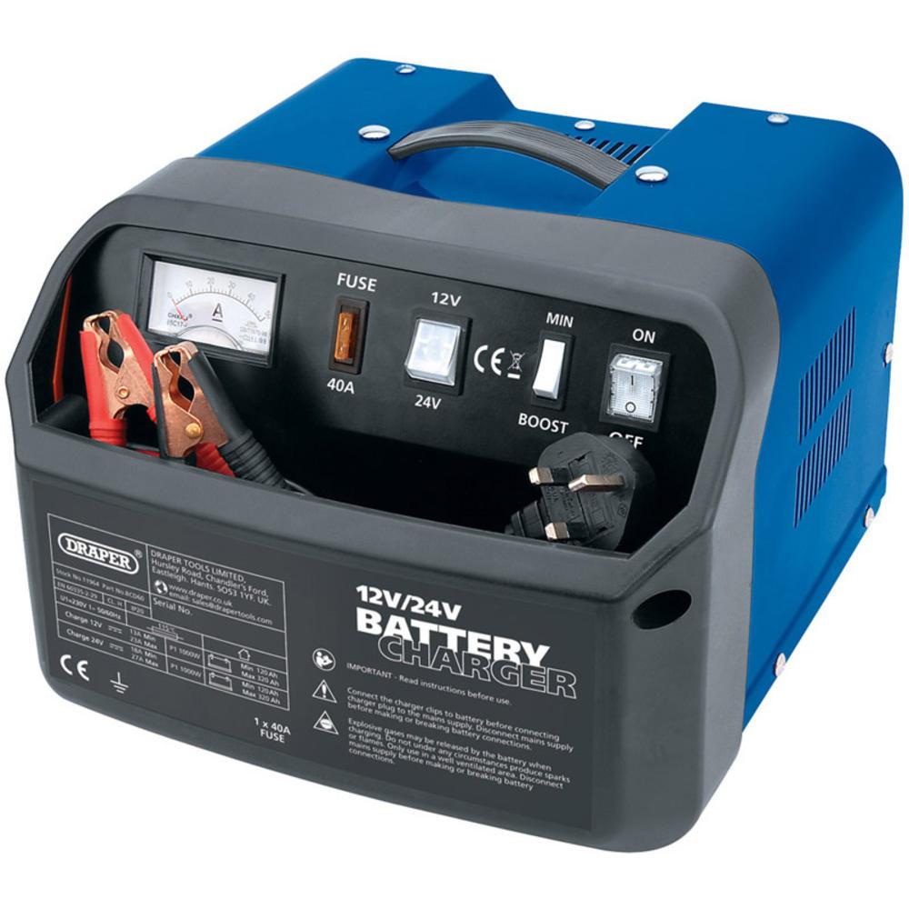Draper 11964 BCD60 12/24V 30A Battery Charger