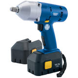 "Draper 13507 19.2V Cordless 1/2"" Sq. Dr. Impact Wrench with Two Ni-Mh Batteries"