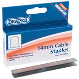 Draper 13962 6214 1000 x 14mm Cable or Wiring Staples