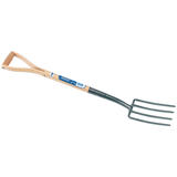 Draper 14304 A106EH/I Carbon Steel Border Fork with Ash Handle