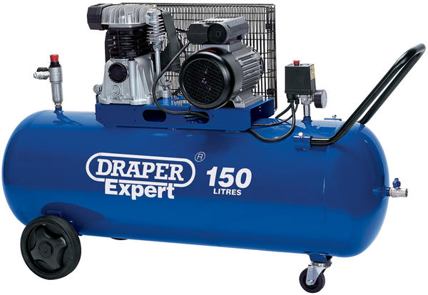 Draper 22463 150L 230V 2.2kW Belt-Driven Air Compressor Thumbnail 1