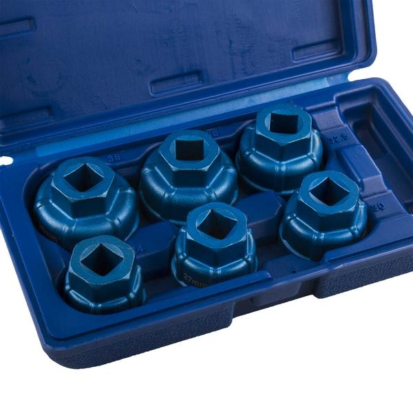 """Draper 22491 Expert 6 Piece 1/2"""" Sq. Dr. Oil Filter Cap Socket Set Thumbnail 3"""