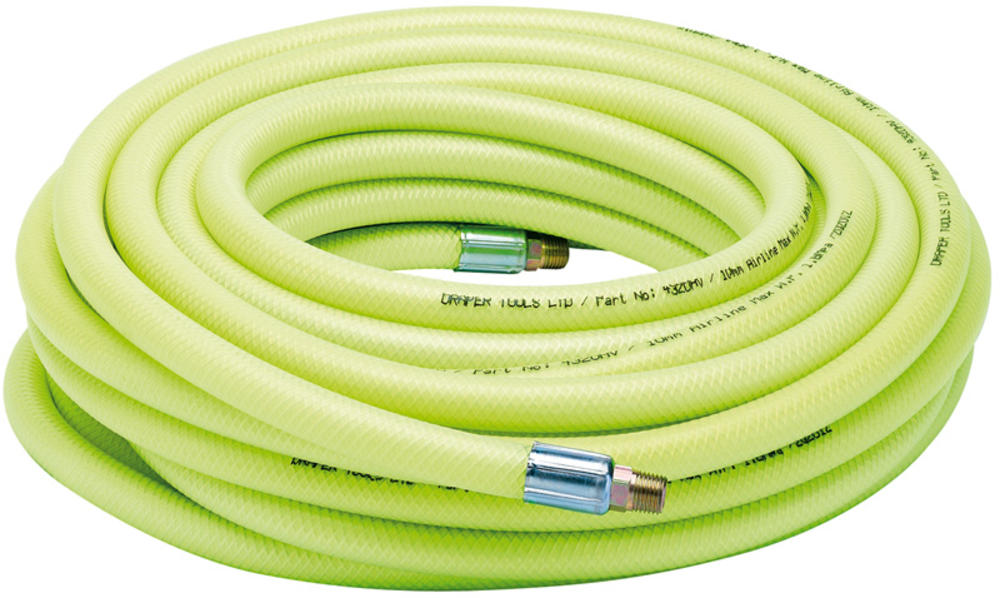 "Draper 23191 15.2M 1/4"" BSP 10mm Bore High-Vis Air Line Hose"