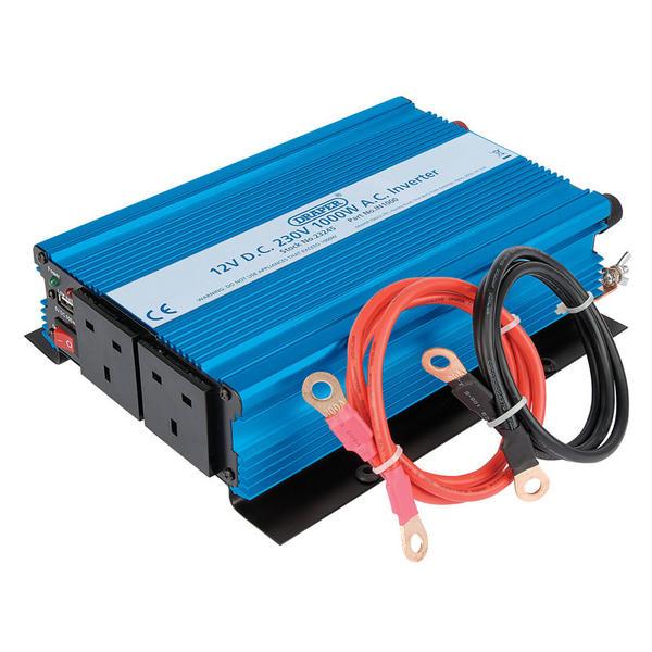 Draper 23245 IN1000 1000W DC-AC Inverter Thumbnail 2