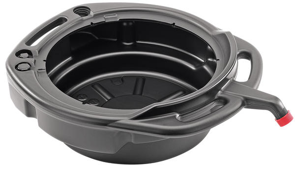 Draper 23258 16L Fluid Drain Pan - Black Thumbnail 1
