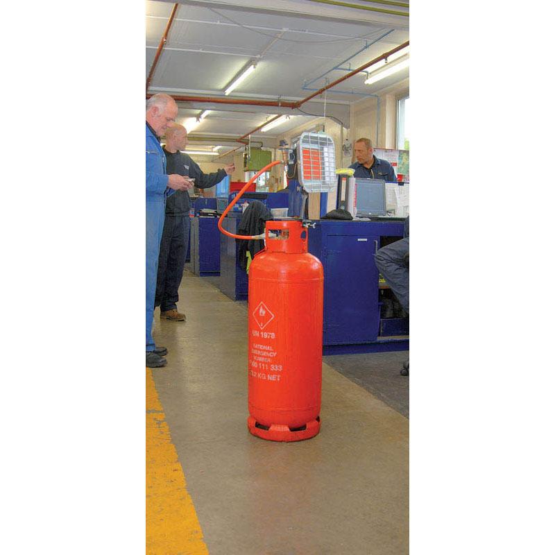 Draper 24588 17 000 btu 5kw propane bottle mounted ceramic space heater draper 24588 17 - Small propane space heater collection ...