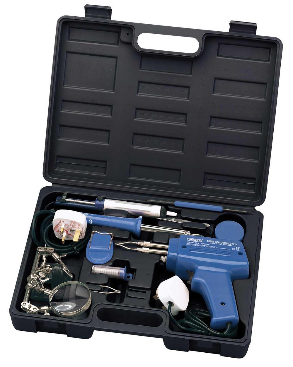 Draper 71421 Sk1 10 Piece Soldering Iron Gun Kit