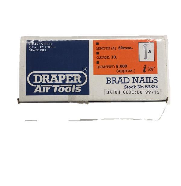 Draper 59824 AAN20 20mm Brad Nails (5000) Thumbnail 2