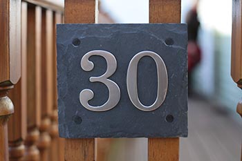 Exceptional Natural Slate Door/House Number Plaques With Choice Of Stainless Steel  Digits