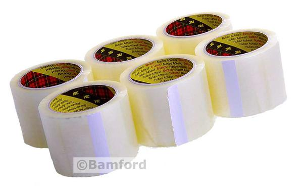 6 Pack of Scotch 3m 75mm Wide Clear Packing Tape Thumbnail 1