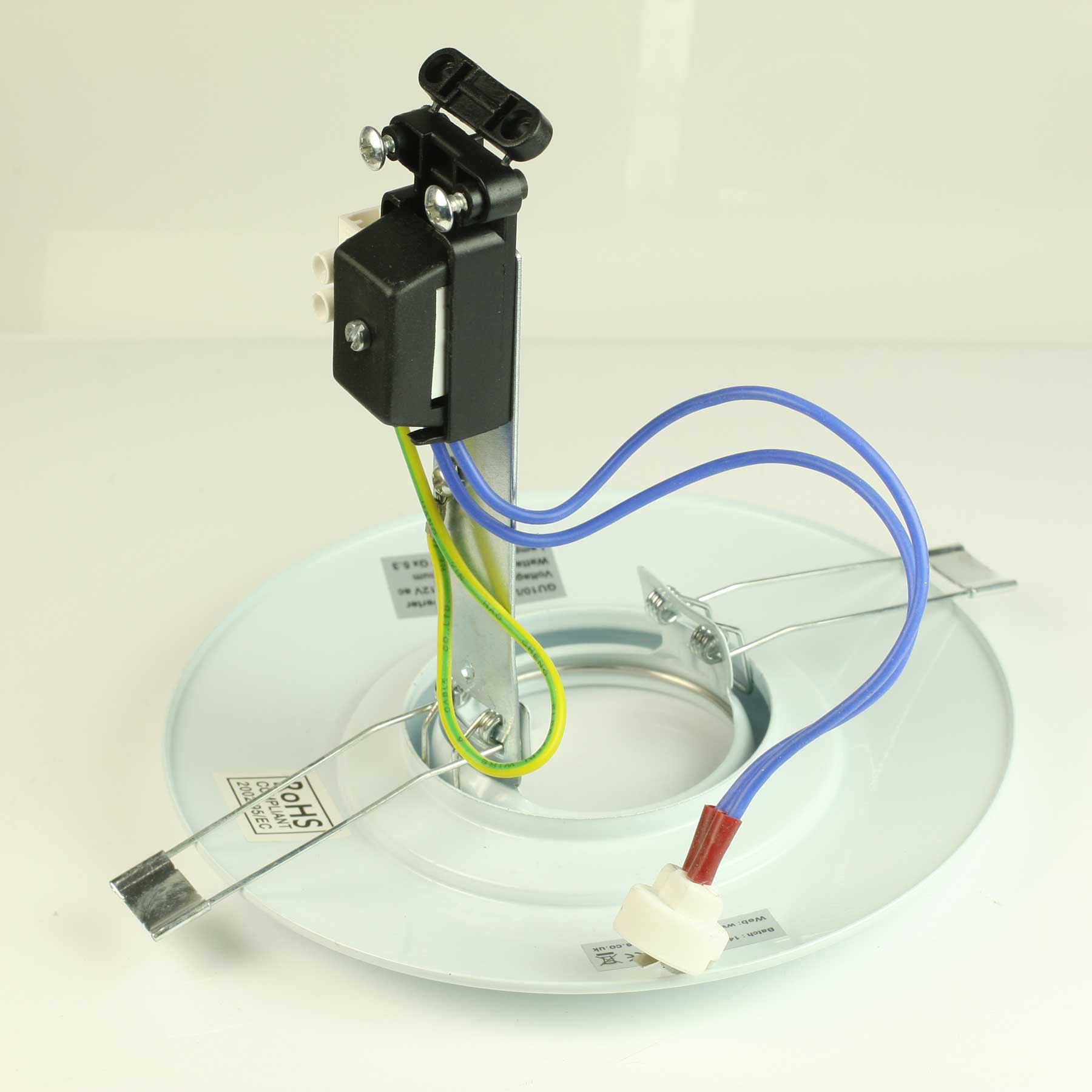 Spotlight Downlight Hole Converter Plate Kit With Warm White Gu10 Cob Led Bulb