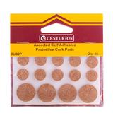 Self Adhesive Cork Pads Furniture Surface Protectors Round Assorted Pack of 20