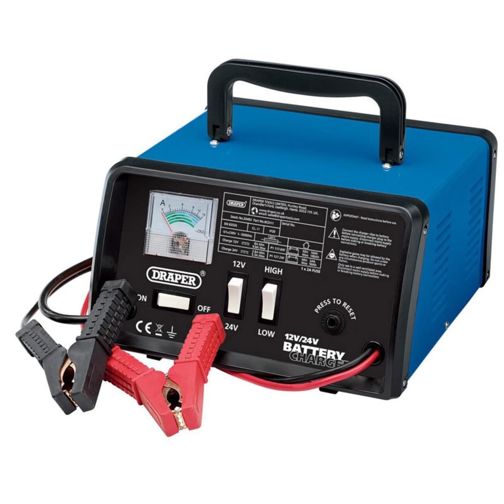 Draper 20493 BCD11 12/24V 10.3A Battery Charger