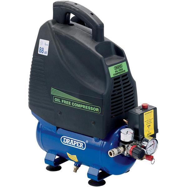 Draper 24974 DA6/169 6L 230V 1.1kW (1.5hp) Oil-Free Air Compressor Thumbnail 1