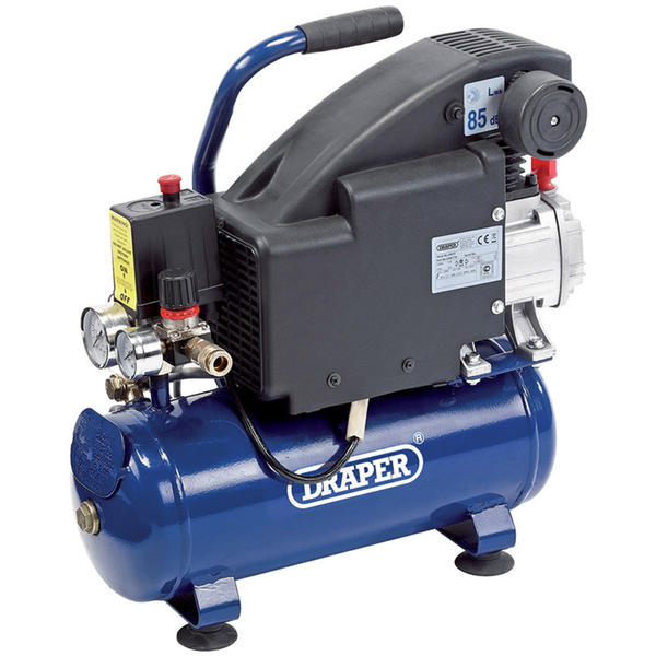 Draper 24975 DA8/118 8L 230V 0.75kW (1HP) Air Compressor Thumbnail 1