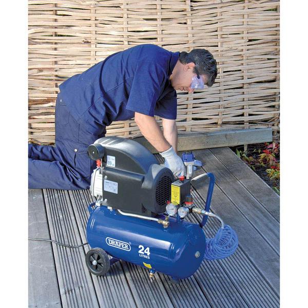 Draper 24980 DA25/207 24L 230V 1.5kW (2hp) Air Compressor Thumbnail 4