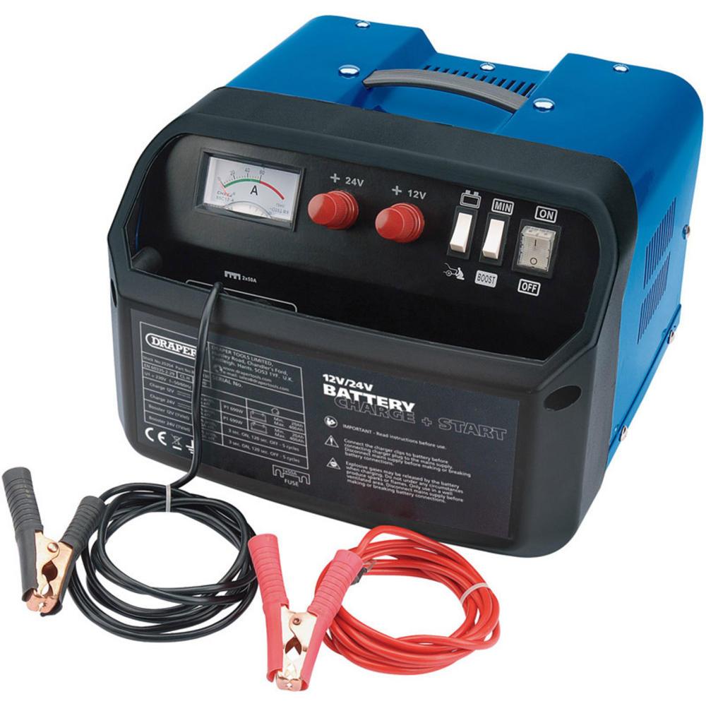 Draper 25354 BCSD130 12/24V 120A Battery Starter/Charger