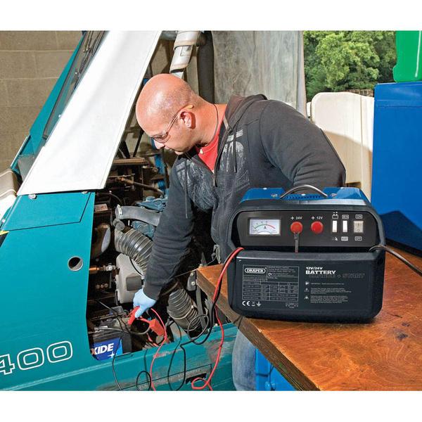 Draper 25354 BCSD130 12/24V 120A Battery Starter/Charger Thumbnail 2