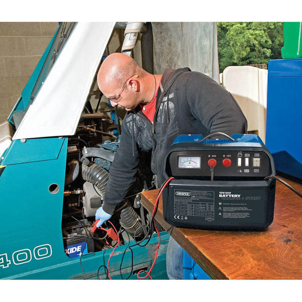 Draper 25355 BCSD190 12/24V 180A Battery Starter/Charger Thumbnail 3