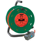 Draper 26341 DCR2510RCDC 25M 230V Four Socket Garden Cable Reel with RCD Adaptor