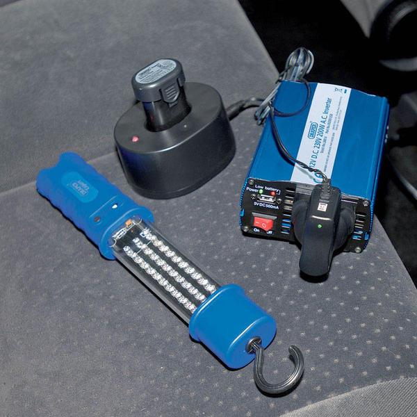 Draper 28814 IN200/USB 12V 200W DC-AC Inverter Thumbnail 3