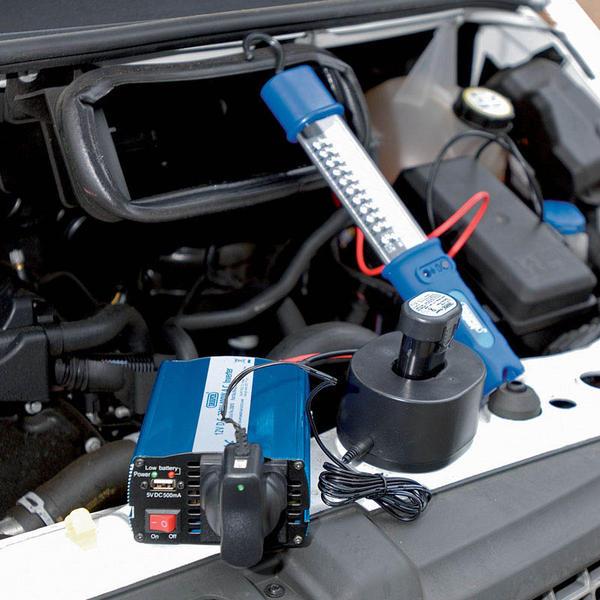 Draper 28815 IN400/USB 12V 400W DC-AC Inverter Thumbnail 2