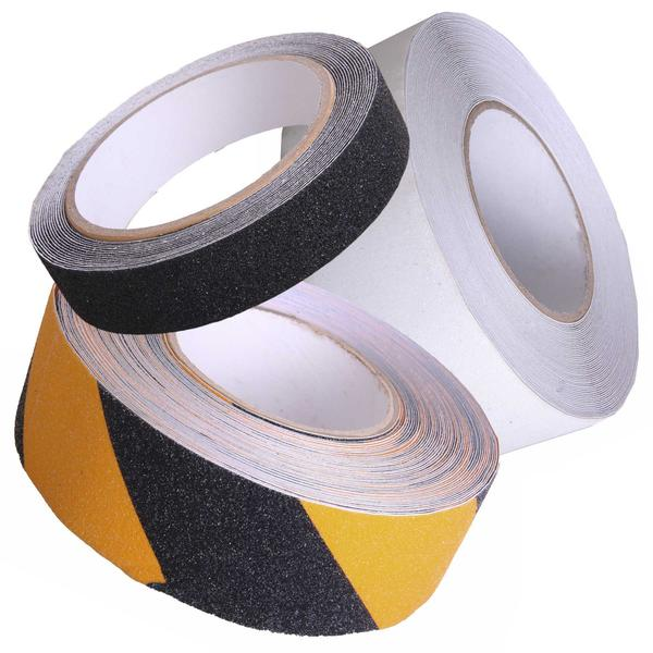 Self Adhesive Safety Anti-Slip Grip Tape Black Yellow Clear Thumbnail 1