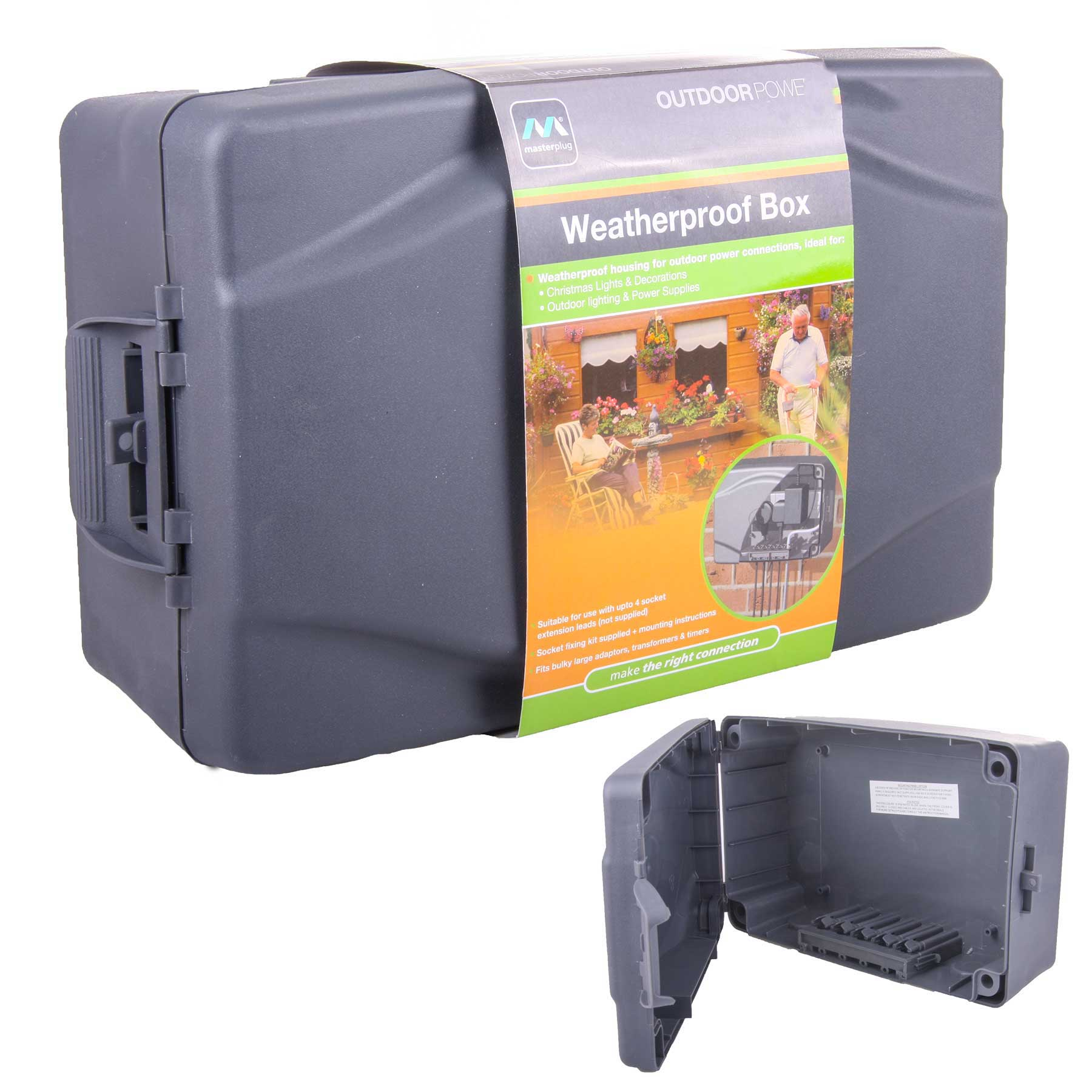 Masterplug Weatherproof Box For Outdoor Electrical Power Connections ...