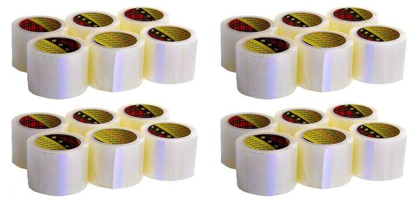 24 Pack of Scotch 3m 75mm Extra Wide Clear Packing Tape Thumbnail 1
