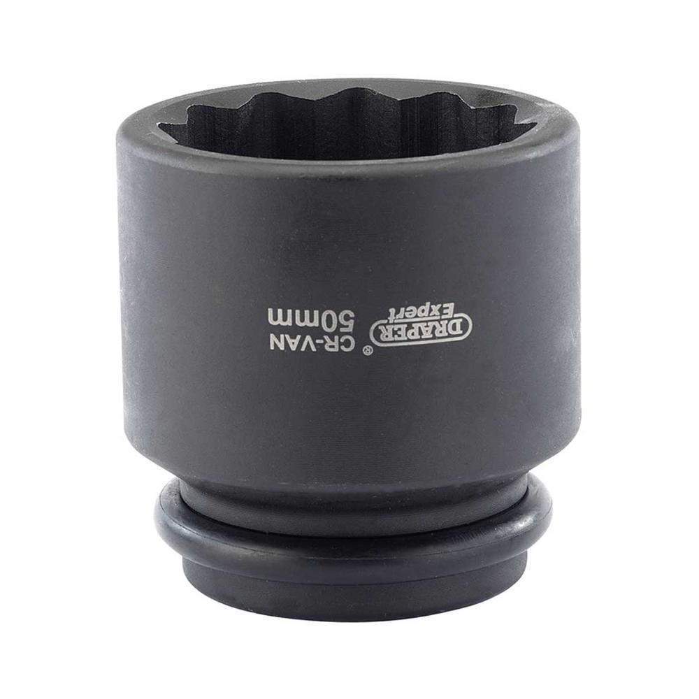"Draper 33319 411D-MM Expert 50mm 3/4"" Sq. Dr. Hub Nut Impact Socket"