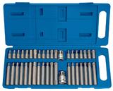 Draper 33323 40 Pc Torx Tx-Star Hex Spline XZN Mechanics Bit Set