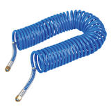 Silverline 269591 Coiled Air Hose With Female Nut End Fittings