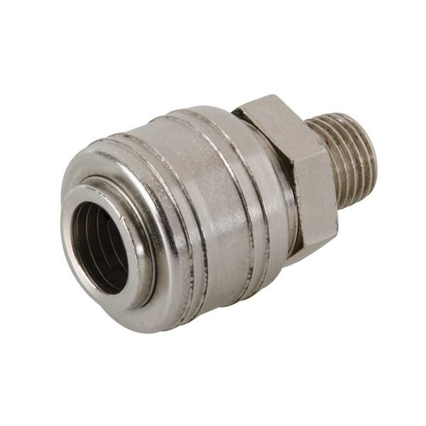 237552 Euro Air Line Male Thread Quick Coupler 1/4 BSP Thumbnail 1
